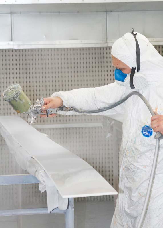 Spraying process