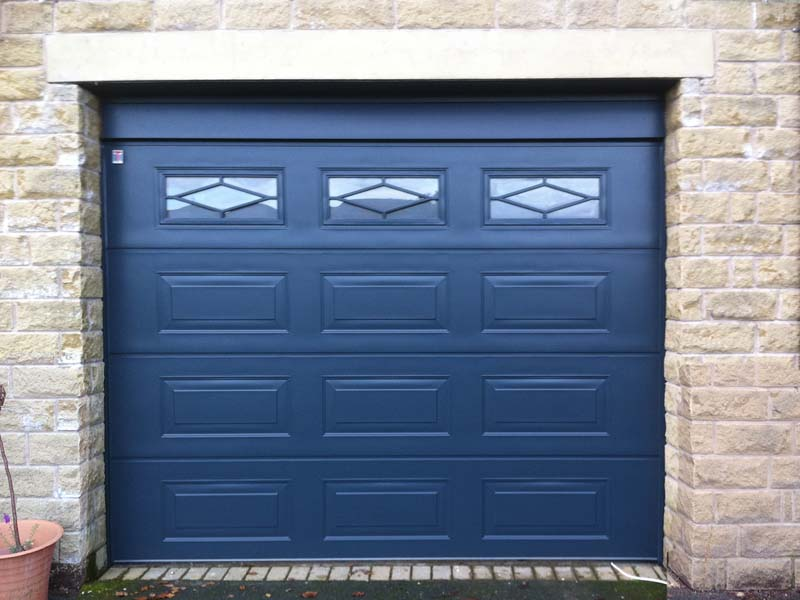 Painted garage door
